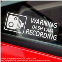 5 x WARNING DASH CAM Recording-30x87mm-WINDOW Stickers-Vehicle Camera Security Warning Dash Cam Signs-CCTV,Car,Van,Truck,Taxi,Mini Cab,Bus,Coach, Go Pro